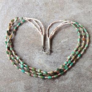 Vintage Artisan Stonr Chip Statement Necklace